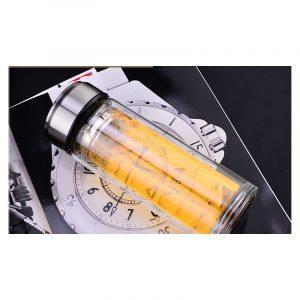 Стеклянная термокружка-колба ClearPju 320 мл (опт): подходит для напитков от -20 до +120С°, боросиликатное стекло