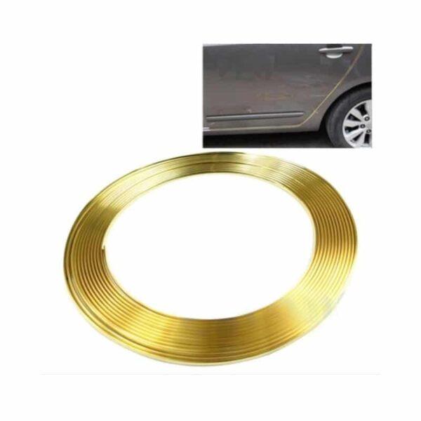 39551 - Защита двери (торцевой молдинг) черного, красного, серебристого, золотистого цвета, полоса-протектор 12 м