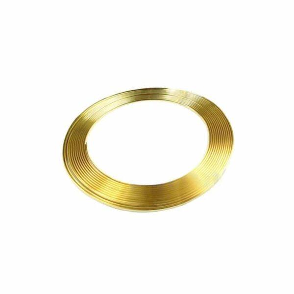 39555 - Защита двери (торцевой молдинг) черного, красного, серебристого, золотистого цвета, полоса-протектор 12 м