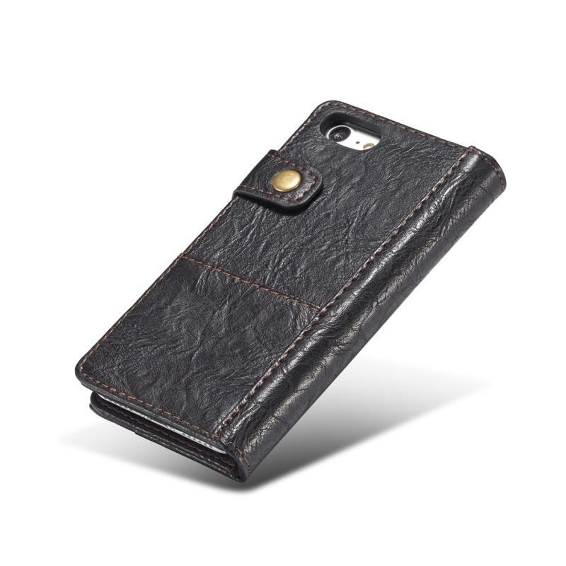 Кожаный чехол-кошелек CaseMe i8 для iPhone 8/ 7: слоты для карт и денег, PU-кожа Crazy Horse, бизнес-стиль 215095