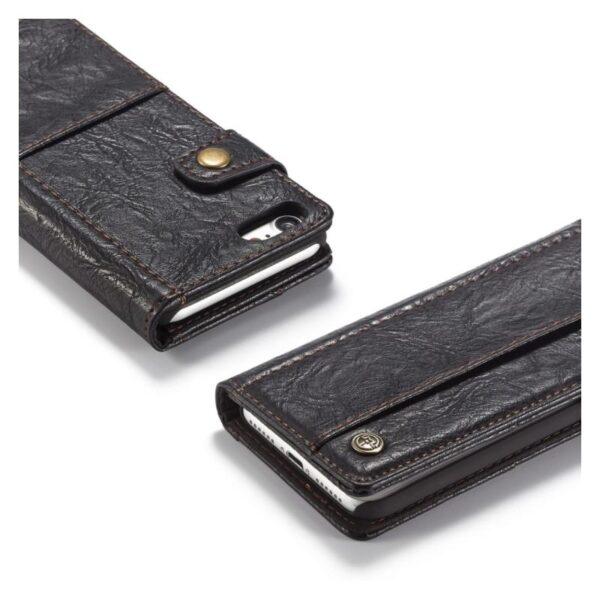 39567 - Кожаный чехол-кошелек CaseMe i8 для iPhone 8/ 7: слоты для карт и денег, PU-кожа Crazy Horse, бизнес-стиль