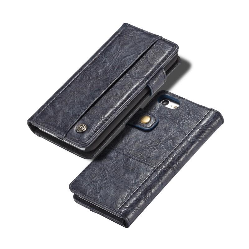 Кожаный чехол-кошелек CaseMe i8 для iPhone 8/ 7: слоты для карт и денег, PU-кожа Crazy Horse, бизнес-стиль 215107