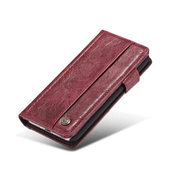 39583 - Кожаный чехол-кошелек CaseMe i8 для iPhone 8/ 7: слоты для карт и денег, PU-кожа Crazy Horse, бизнес-стиль