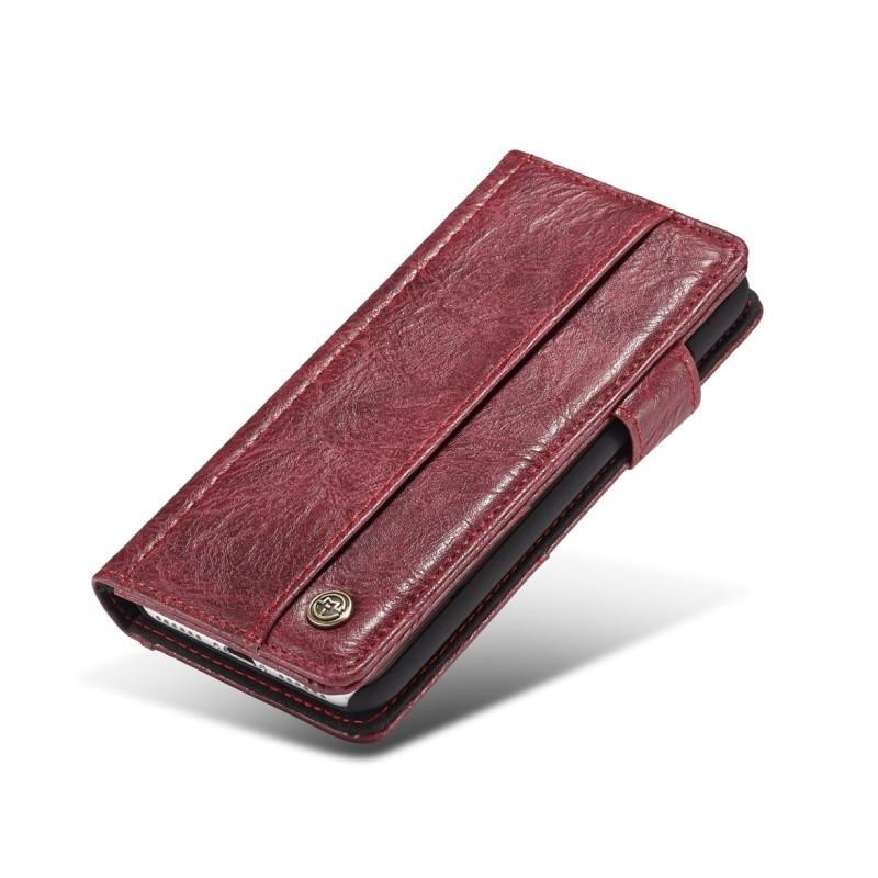 Кожаный чехол-кошелек CaseMe i8 для iPhone 8/ 7: слоты для карт и денег, PU-кожа Crazy Horse, бизнес-стиль 215114