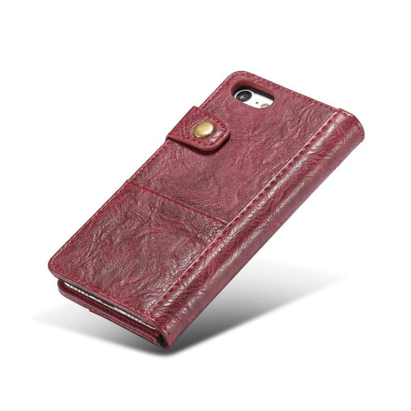 Кожаный чехол-кошелек CaseMe i8 для iPhone 8/ 7: слоты для карт и денег, PU-кожа Crazy Horse, бизнес-стиль 215115