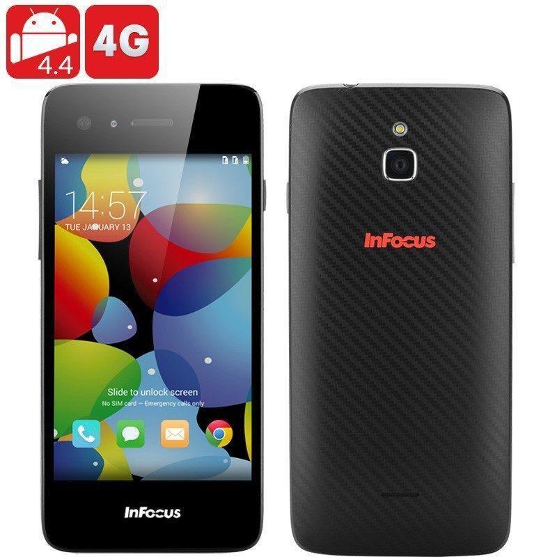 Смартфон InFocus M2 – 4G, Android 4.4, 4-ядерный процессор, IPS-дисплей 1280 х 768, 355 PPI, камеры 8МП + 8МП