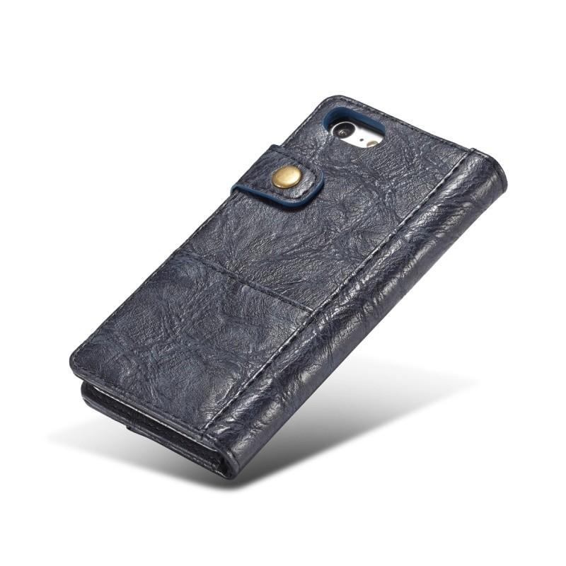 Кожаный чехол-кошелек CaseMe i8 для iPhone 8 Plus/ 7 Plus : слоты для карт и денег, PU-кожа Crazy Horse, бизнес-стиль 215145