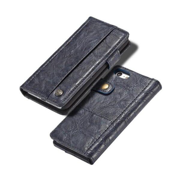 39617 - Кожаный чехол-кошелек CaseMe i8 для iPhone 8 Plus/ 7 Plus : слоты для карт и денег, PU-кожа Crazy Horse, бизнес-стиль