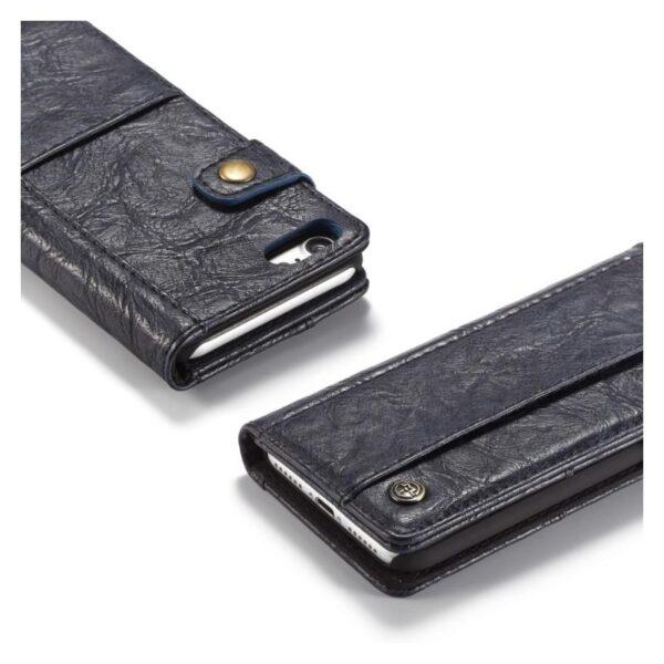 39618 - Кожаный чехол-кошелек CaseMe i8 для iPhone 8 Plus/ 7 Plus : слоты для карт и денег, PU-кожа Crazy Horse, бизнес-стиль