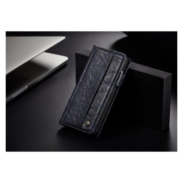 39621 - Кожаный чехол-кошелек CaseMe i8 для iPhone 8 Plus/ 7 Plus : слоты для карт и денег, PU-кожа Crazy Horse, бизнес-стиль