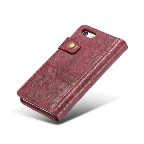 39625 - Кожаный чехол-кошелек CaseMe i8 для iPhone 8 Plus/ 7 Plus : слоты для карт и денег, PU-кожа Crazy Horse, бизнес-стиль