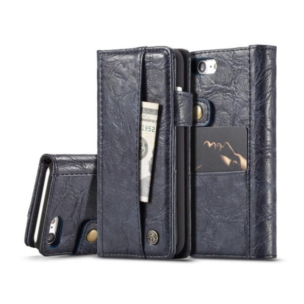 39654 - Кожаный чехол-кошелек CaseMe i8 для iPhone X: слоты для карт и денег, PU-кожа Crazy Horse, бизнес-стиль