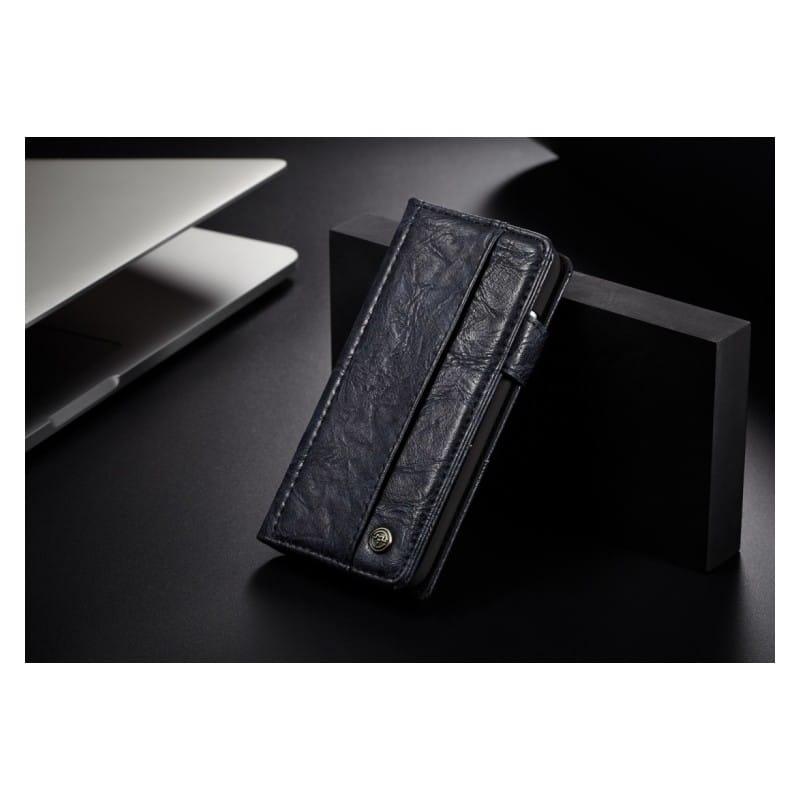 Кожаный чехол-кошелек CaseMe i8 для iPhone X: слоты для карт и денег, PU-кожа Crazy Horse, бизнес-стиль 215191