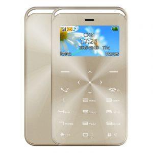 Кардфон DAXIAN GS6: 7,9 мм толщина, 1,69 дюйма экран, QWERTY-клавиатура, BT, FM, MP3-музыка, функция изменения голоса