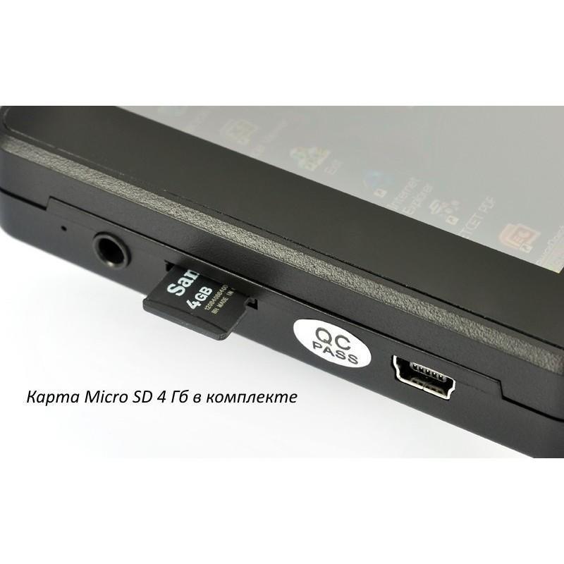 Автомобильное зеркало заднего вида с  сенсорным экраном, GPS-навигатором и DVR 720p + гарнитура Bluetooth + MicroSD 4 Гб 186320