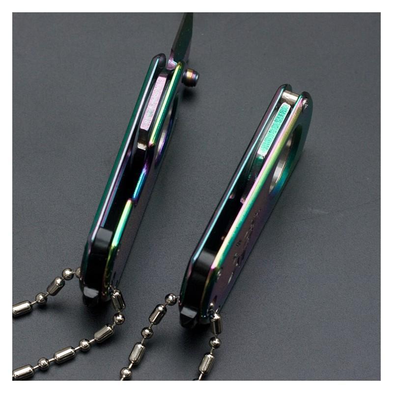 EDC складной мини-нож с кольцом для пальца WolfGun CIMA M191: клинок 1,9 см, нержавеющая сталь, фиксатор лезвия 215264