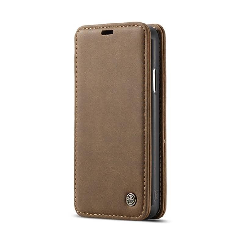 Кожаный чехол CaseMe H1 с кольцом-держателем и слотами для карт для iPhone X + TPU съемная задняя крышка-бампер 215270
