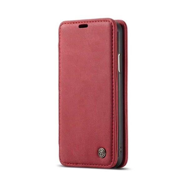 39755 - Кожаный чехол CaseMe H1 с кольцом-держателем и слотами для карт для iPhone X + TPU съемная задняя крышка-бампер