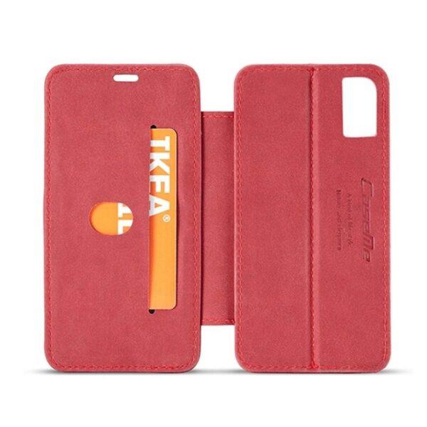 39759 - Кожаный чехол CaseMe H1 с кольцом-держателем и слотами для карт для iPhone X + TPU съемная задняя крышка-бампер