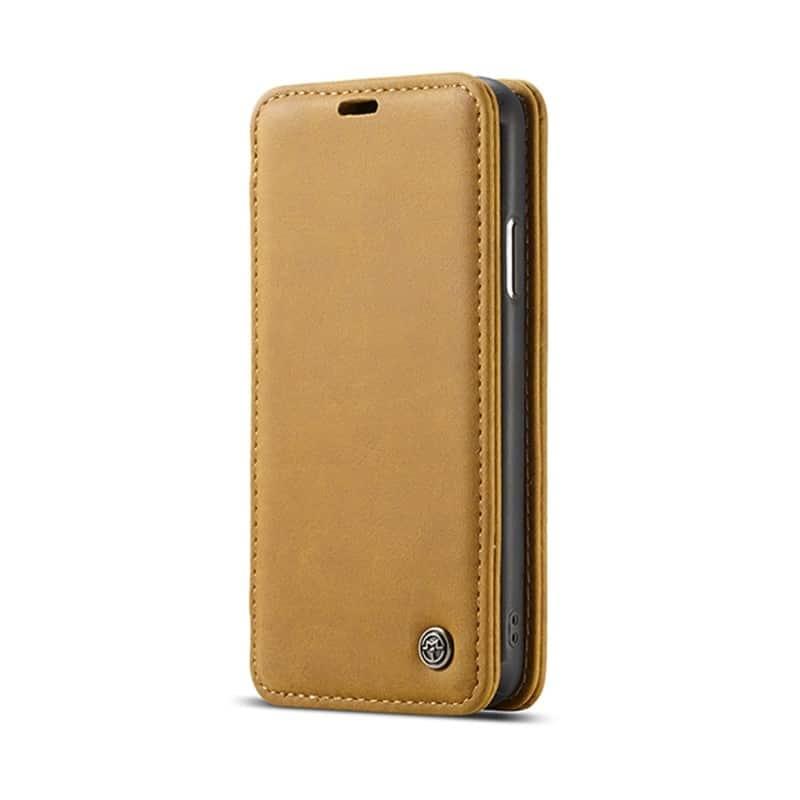 Кожаный чехол CaseMe H1 с кольцом-держателем и слотами для карт для iPhone X + TPU съемная задняя крышка-бампер 215288