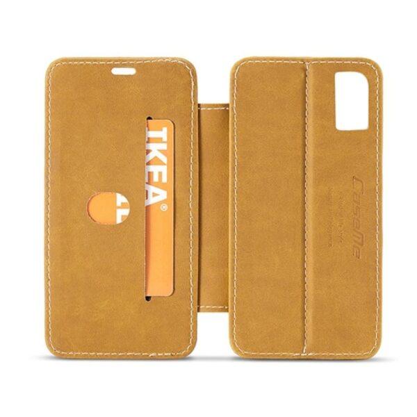 39769 - Кожаный чехол CaseMe H1 с кольцом-держателем и слотами для карт для iPhone X + TPU съемная задняя крышка-бампер