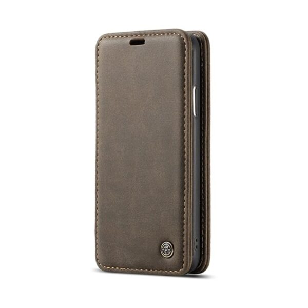 39773 - Кожаный чехол CaseMe H1 с кольцом-держателем и слотами для карт для iPhone X + TPU съемная задняя крышка-бампер