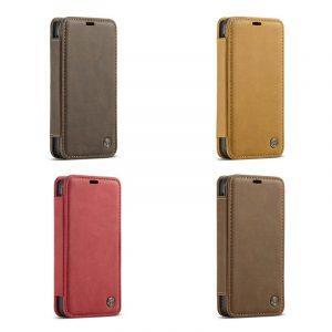 Кожаный чехол CaseMe H1 с кольцом-держателем и слотами для карт для Samsung Galaxy S8  + TPU задняя крышка-бампер + ремешок