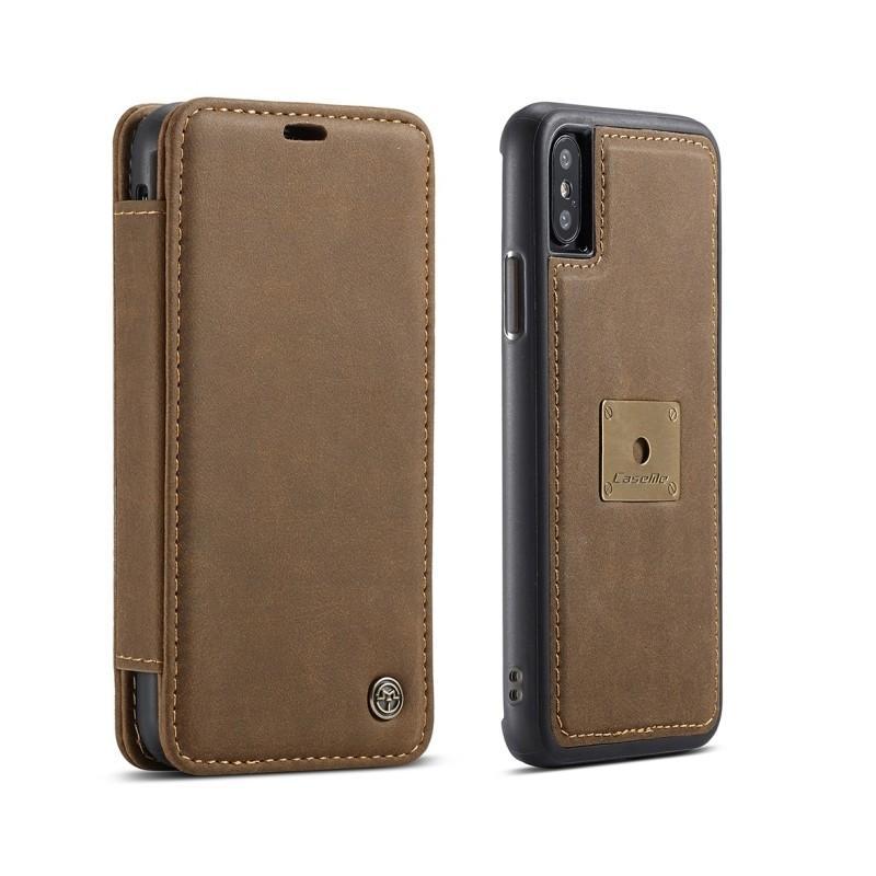 Кожаный чехол CaseMe H1 с кольцом-держателем и слотами для карт для Samsung Galaxy S8  + TPU задняя крышка-бампер + ремешок 215302