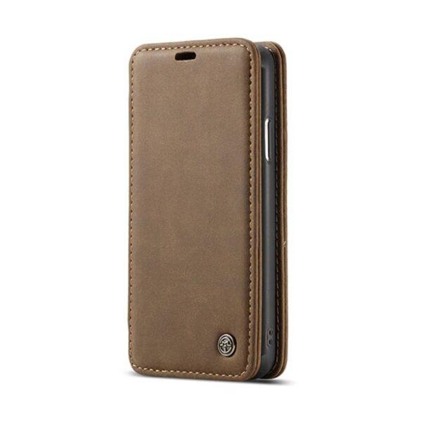 39780 - Кожаный чехол CaseMe H1 с кольцом-держателем и слотами для карт для Samsung Galaxy S8 + TPU задняя крышка-бампер + ремешок