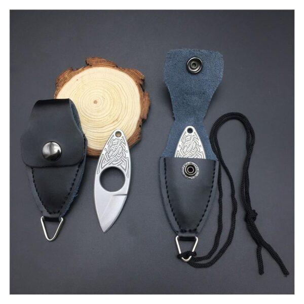 39841 - EDC мини нож коготь из нержавеющей стали с гравировкой