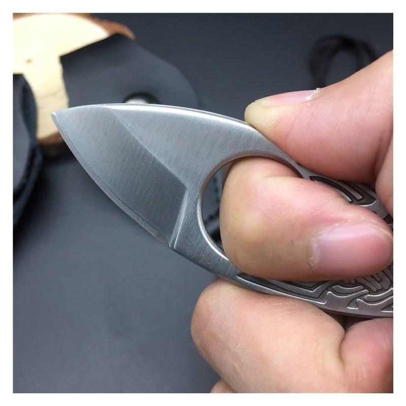 39842 - EDC мини нож коготь из нержавеющей стали с гравировкой