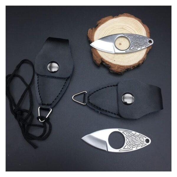 39847 - EDC мини нож коготь из нержавеющей стали с гравировкой