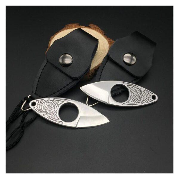 39851 - EDC мини нож коготь из нержавеющей стали с гравировкой