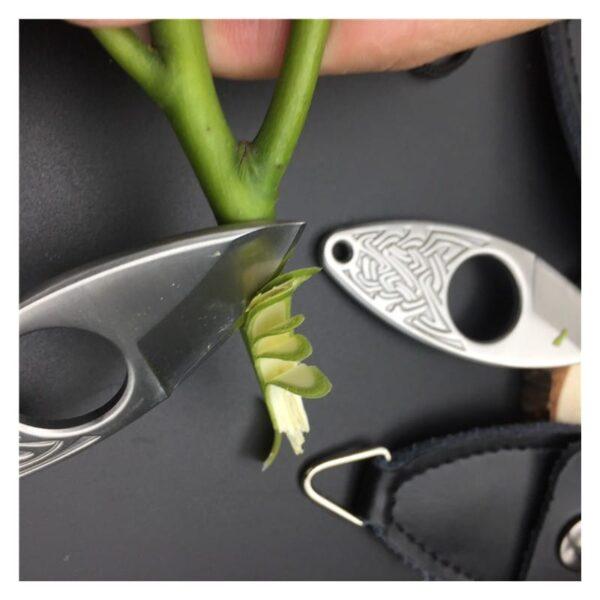 39852 - EDC мини нож коготь из нержавеющей стали с гравировкой