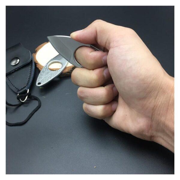 39853 - EDC мини нож коготь из нержавеющей стали с гравировкой