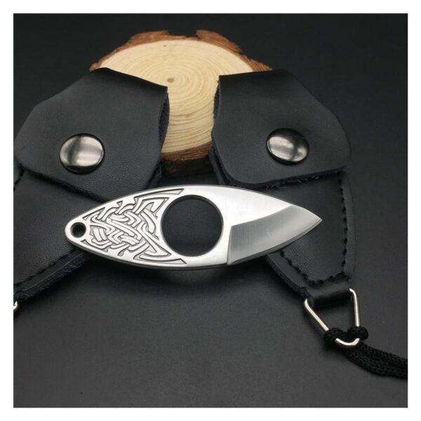 39857 - EDC мини нож коготь из нержавеющей стали с гравировкой