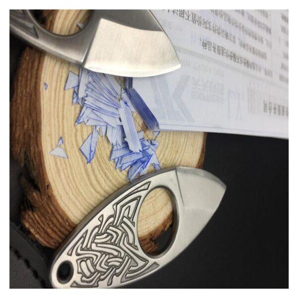 39858 - EDC мини нож коготь из нержавеющей стали с гравировкой