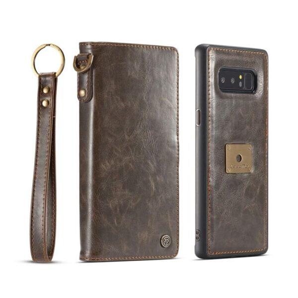 39860 - Кожаный чехол-кошелек CaseMe для Samsung Galaxy Note 8 + TPU задняя крышка-бампер + ремешок
