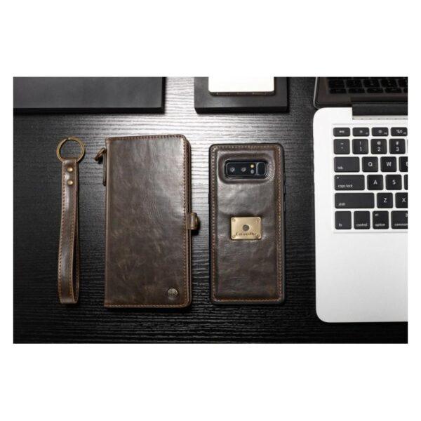 39872 - Кожаный чехол-кошелек CaseMe для Samsung Galaxy Note 8 + TPU задняя крышка-бампер + ремешок