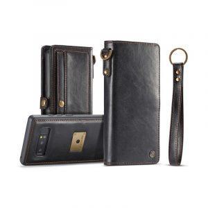 Кожаный чехол-кошелек CaseMe для Samsung Galaxy Note 8 + TPU задняя крышка-бампер + ремешок