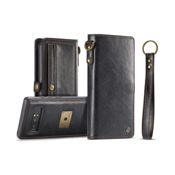 39873 - Кожаный чехол-кошелек CaseMe для Samsung Galaxy Note 8 + TPU задняя крышка-бампер + ремешок