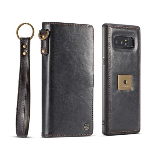 39874 - Кожаный чехол-кошелек CaseMe для Samsung Galaxy Note 8 + TPU задняя крышка-бампер + ремешок