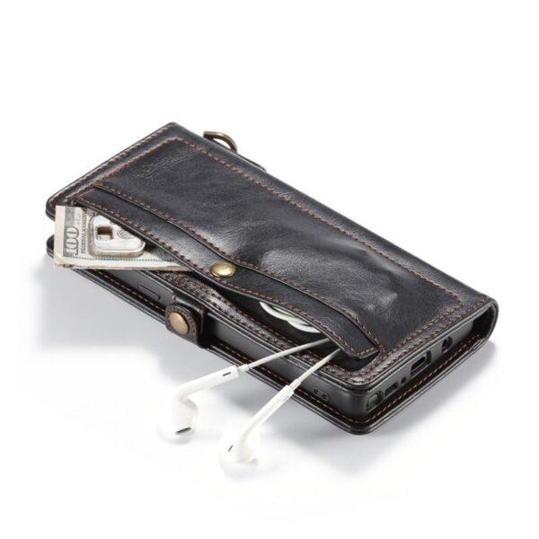 39877 - Кожаный чехол-кошелек CaseMe для Samsung Galaxy Note 8 + TPU задняя крышка-бампер + ремешок
