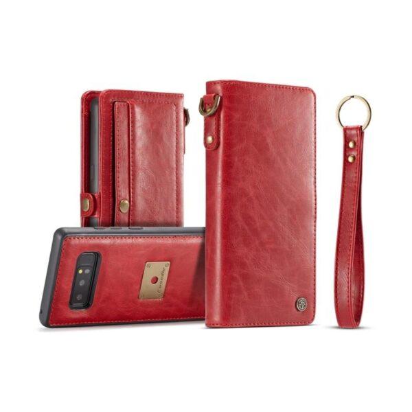 39880 - Кожаный чехол-кошелек CaseMe для Samsung Galaxy Note 8 + TPU задняя крышка-бампер + ремешок