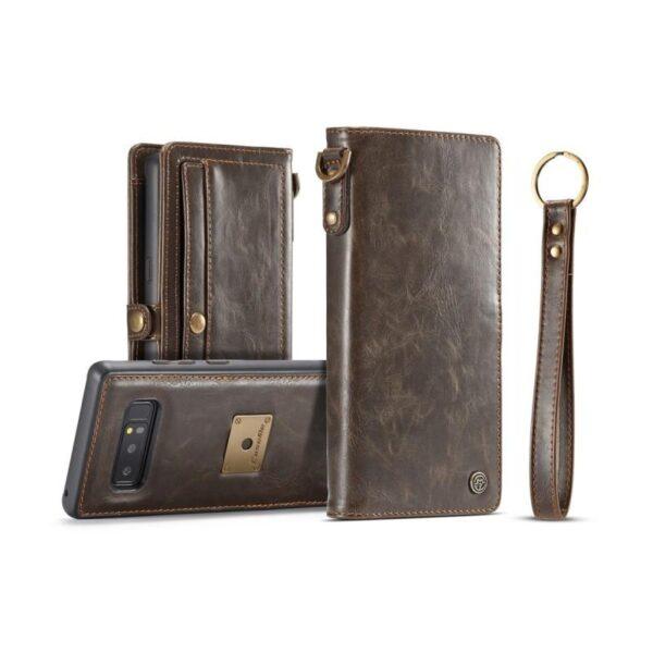 39887 - Кожаный чехол-кошелек CaseMe для iPhone X + TPU задняя крышка-бампер + ремешок