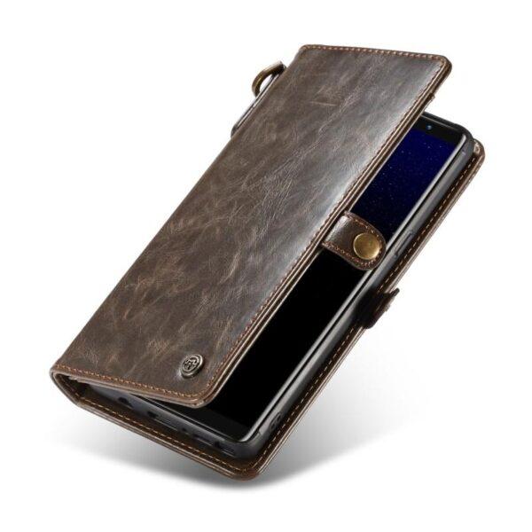39889 - Кожаный чехол-кошелек CaseMe для iPhone X + TPU задняя крышка-бампер + ремешок