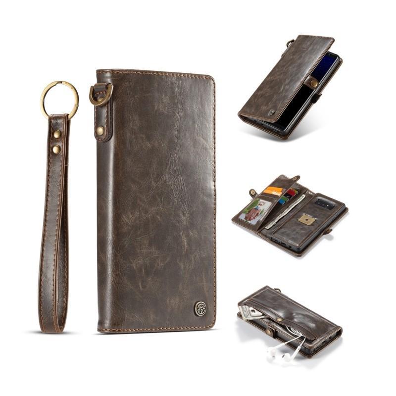 Кожаный чехол-кошелек CaseMe для iPhone X + TPU задняя крышка-бампер + ремешок 215410
