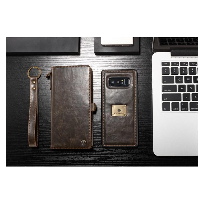 Кожаный чехол-кошелек CaseMe для iPhone X + TPU задняя крышка-бампер + ремешок 215417