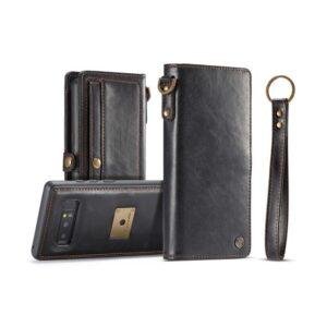 Кожаный чехол-кошелек CaseMe для iPhone X + TPU задняя крышка-бампер + ремешок