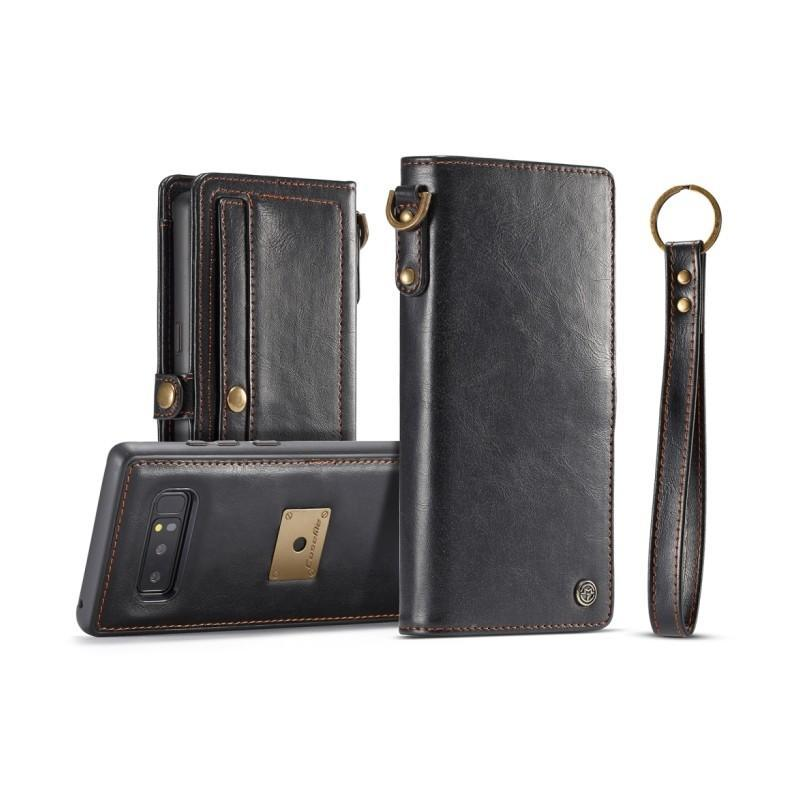 39901 - Кожаный чехол-кошелек CaseMe для iPhone X + TPU задняя крышка-бампер + ремешок